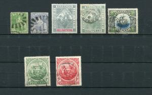 Barbados 1855-97 Sc 5 16 81-2 109 128-9 Used Cv $137.00