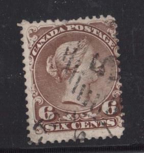 Canada #27 Used With 5 Numeral Cancel & CDS