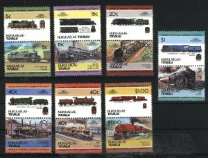 Tuvalu -Nukulaelau 2,5,7,10,11,16,17   Mint NH VF 1984-86 PD
