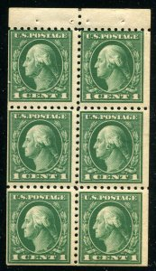 Scott 424d - 1 Cent Washington - MNH - Booklet Pane Of 6 ⭐⭐⭐⭐⭐⭐