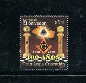 Salvador 1719, MNH, Cuscatlán Masonic Lodge Centenary 2012. x31081