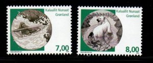 Greenland Sc 519-20 2008 Mythical Places stamp set mint NH