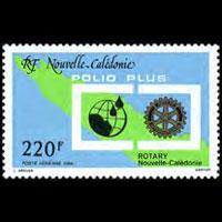 NEW CALEDONIA 1988 - Scott# C215 Rotary Intl. Set of 1 NH