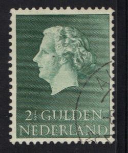 Netherlands 1954   used Juliana 2 1/2 gld  #