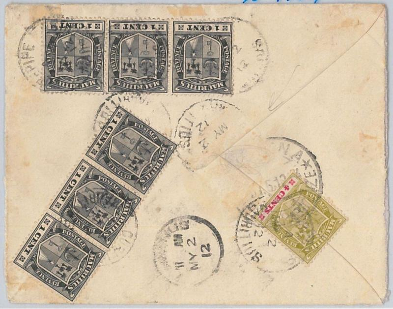 51904 - MAURITIUS -  POSTAL HISTORY - COVER from CUREPIPE, PORT LOUIS to ITALY