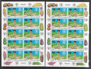 Fiji 449 MNH set in sheet of 10 x 2, vf. see desc. 2020 CV$9.00