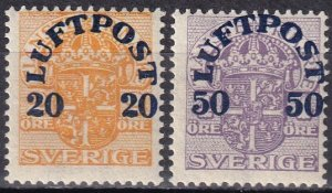 Sweden #C2-3  F-VF Unused CV $22.50  (Z6234)