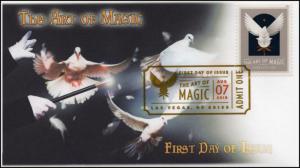18-221, 2018, The Art of Magic, Digital Color Postmark, FDC, Doves