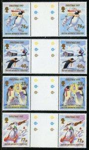 BRITISH ANTARCTIC TERRITORY SCOTT#249/52 GUTTER PAIRS MINT NH-SCOTT VALUE $39.50