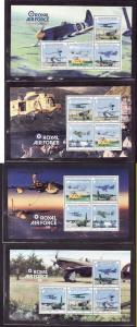 Isle of Man-Sc#1243a//1245c-four unused NH panes from comple