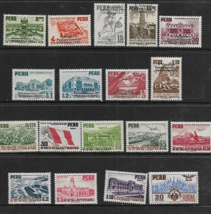 PERU 447-455 MNH V CONGRESO PANAMERICANO DE CARRETERAS 1951