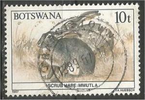 BOTSWANA, 1987, used 10t, Wildlife Conservation, Scott 411