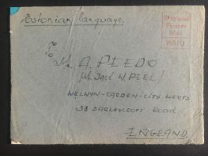 1948 Oldenburg Germany Displaced Person DP Camp Cover to England Estonian