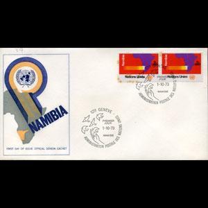 UN-GENEVA 1973 - FDC-34 Namibia(WH518)