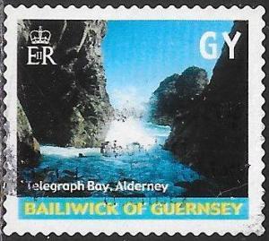 Guernsey 742e Used - Island Views - Telegraph Bay, Alderney
