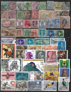COLLECTION LOT OF 59 INDIA 1882+ STAMPS
