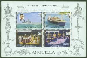 ANGUILLA Scott 274a QE2 25th Anniversary Souvenir sheet 1977