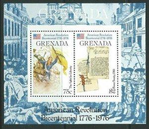 GRENADA SGMS792 1976 BICENTENARY OF AMERICAN REVOLUTION MNH