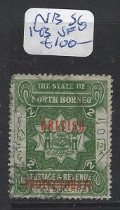 NORTH BORNEO (P1010B) $2.00 ARMS, LION BP  SG 143   VFU