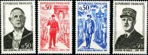 France #1322-1325 Pres. Charles De Gaulle