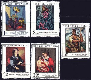 Czechoslovakia. 1973. 2172-77 from the series. Painting. MNH.