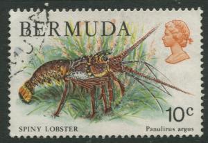 Bermuda #368 QEII Used  Scott CV. $0.25