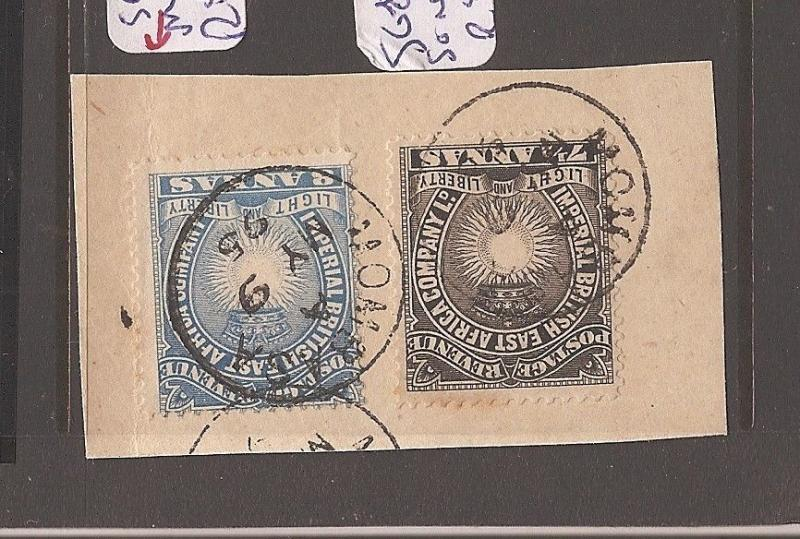 British East Africa SG 12,30 piece SON VFU (12dco)