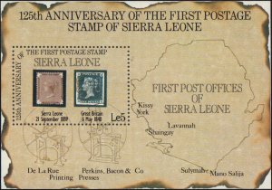Sierra Leone  #656, Complete Set, S/S Only, 1984, Stamp on Stamp, NH