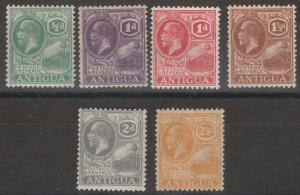 ANTIGUA 1921 KGV BADGE RANGE TO 21/2D