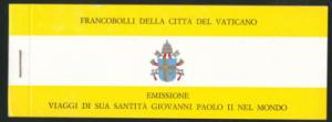 VATICAN City First Booklet  1982 Scarce CEI LB1 Scott 704a