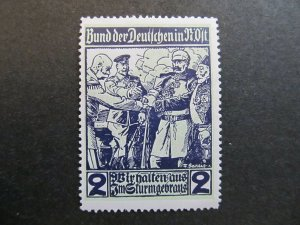 A4P4F8 Reklamemarke Bund der Deutschen in N.O. mint with gum