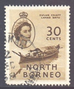North Borneo Scott 270 - SG381, 1954 Elizabeth II 30c used