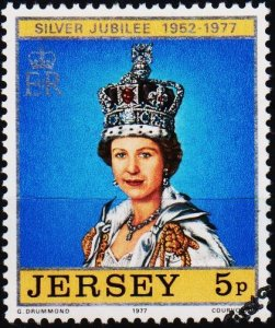 Jersey. 1977 5p S.G.168 Fine Used