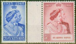 St Kitts & Nevis 1949 RSW set of 2 SG80-81 Very Fine MNH