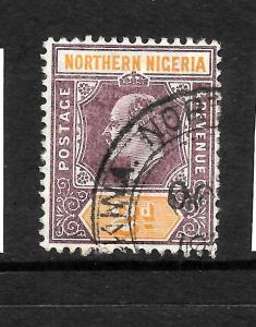 NORTHERN NIGERIA  1905-07  2d  KEVII  FU    SG 22