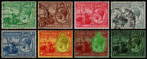 Trinidad & Tobago Scott 21-26, 28-29 (1922-28) Used/Mint H F-VF, CV $12.50 M