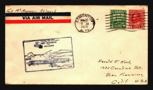 Canada 1929 FFC Ft McMurray to Aklavik - Z17505