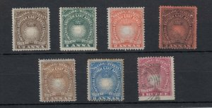British East Africa QV 1890 Collection To 1 Rupee (MH - 2 VFU) JK868