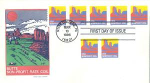 US 2902 FDC - PNC 5 - Plate S1111 - House of Farnam - Butte