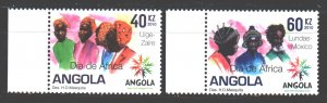 Angola. 2010. 1832-33. Folk clothes. MNH.