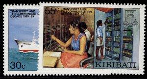 KIRIBATI QEII SG268-269, complete set, NH MINT.