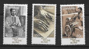 TRANSKEI 38-40   MNH HELPING THE BLIND SET OF 1977
