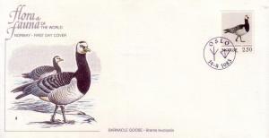 Norway FDC SC# 821 Barnacle Goose L255
