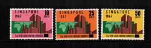 singapore 80 - 82  MNH cat $ 3.30