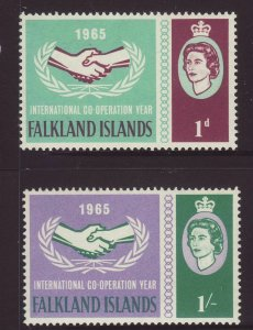 1965 Falkland Is ICY Set Unmounted Mint SG221/222