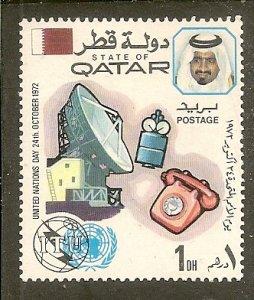 Qatar  Scott 323  ITU and UN emblems   Unused