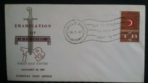 Pakistan 1967 Eradication of Tuberculosis TB First Day Cover FDC