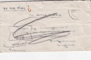 GB 1945 RAF Censor 575 active service mail to Hertfordshire cover Fair Condition