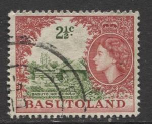 Basutoland - Scott 88 - Basuto Household Issue -1964- Used - Single 2.1/2c Stamp