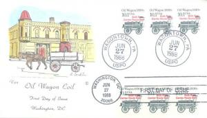 US 2130a FDC - Van Natta - Oil Wagon - Pre-Cancel